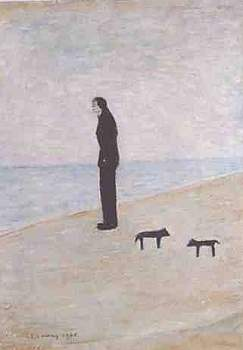 Man Looking Out To Sea - Lowry